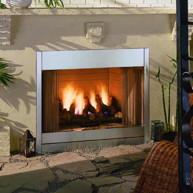 al fresco outdoor gas fireplace