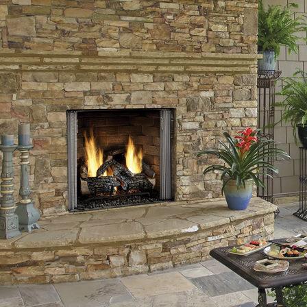 carolina outdoor gas fireplace