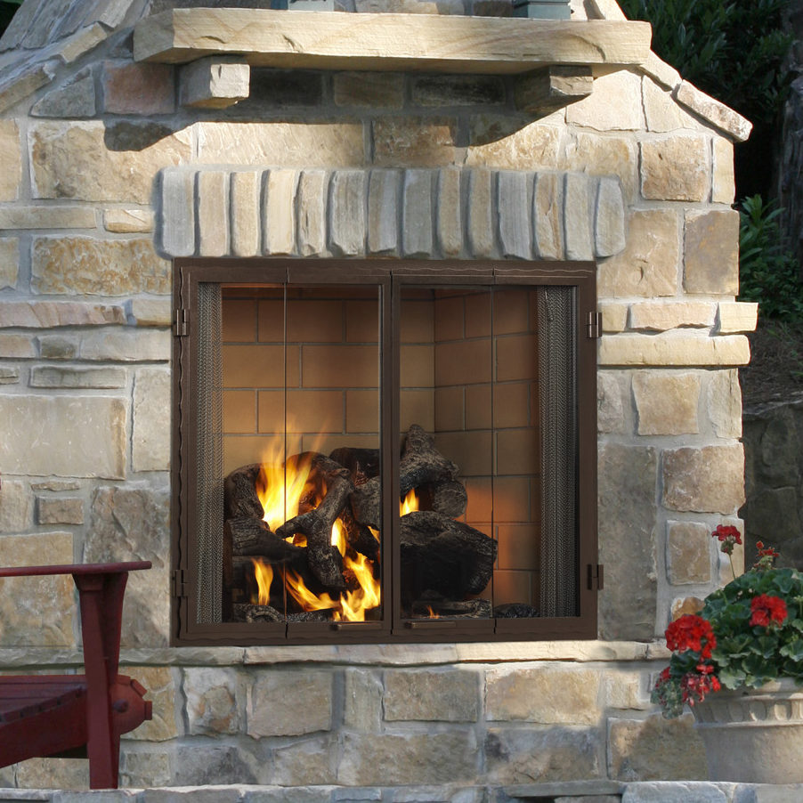 castlewood outdoor fireplace door color