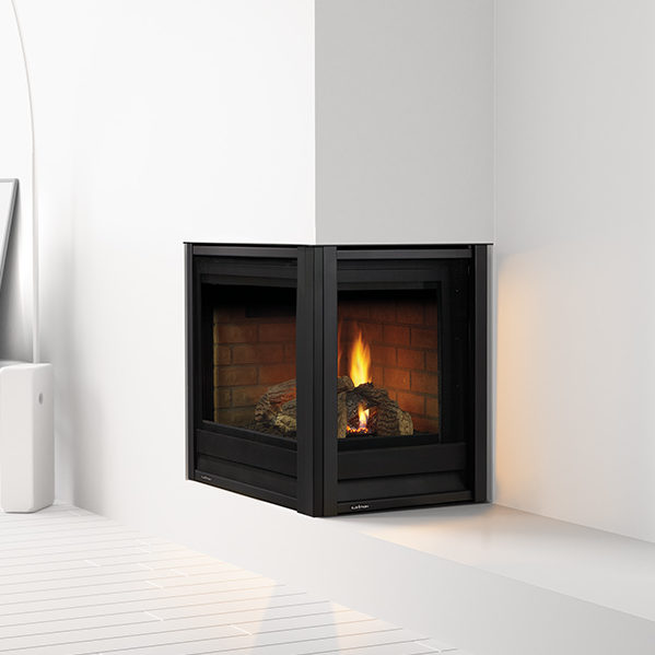 multi-side gas fireplace by heat and glo