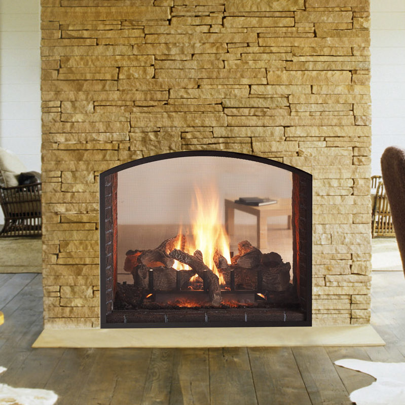 escape 42 see through traditional gas fireplace thumbnail