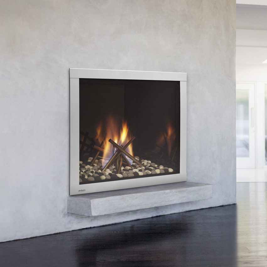 lux modern gas fireplace