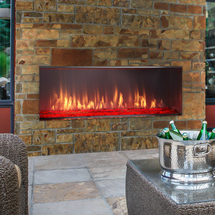 lanai outdoor gas modern fireplace thumbnail