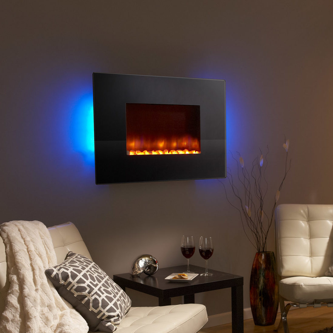 SimpliFire Wall-Mount 36 - modern electric fireplace