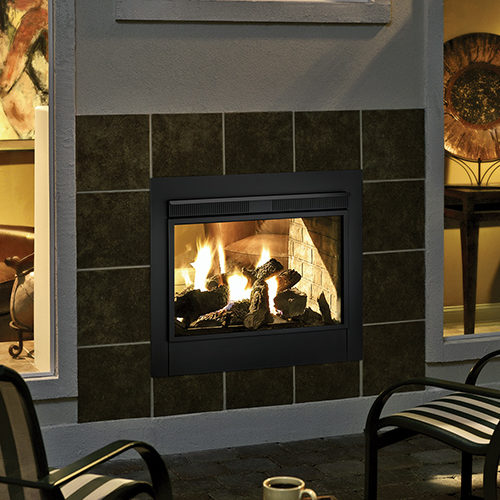twilight II exterior gas fireplace traditional